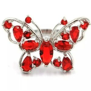 Super cute butterfly silver filled ring